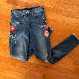 Floral Express Jeans